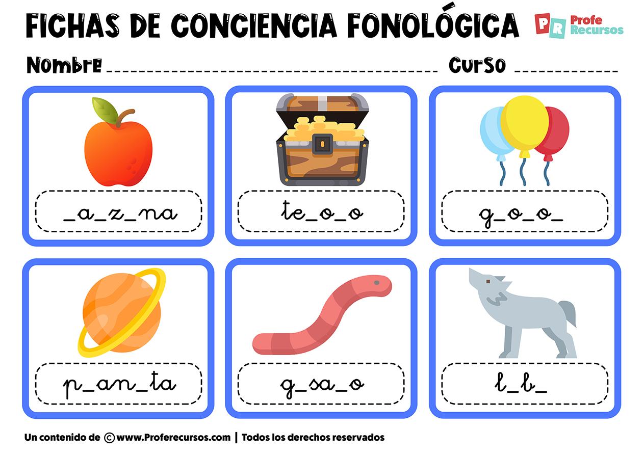 Fichas de conciencia fonologica