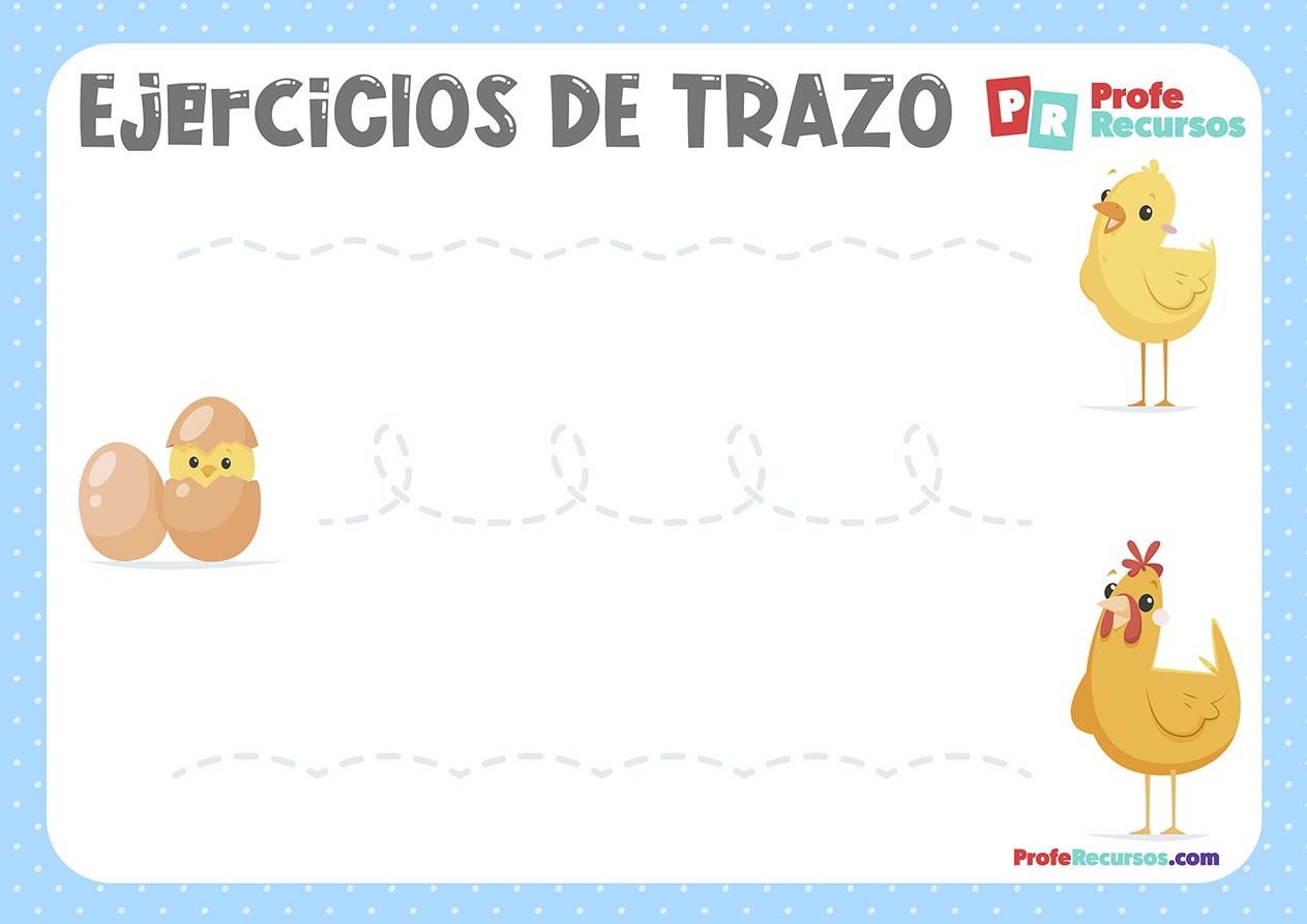 Fichas de trazo para niños de 3 años