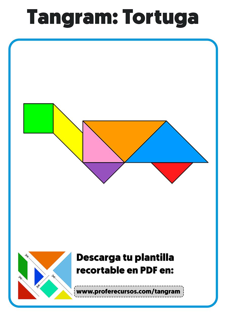 Figura tortuga tangram