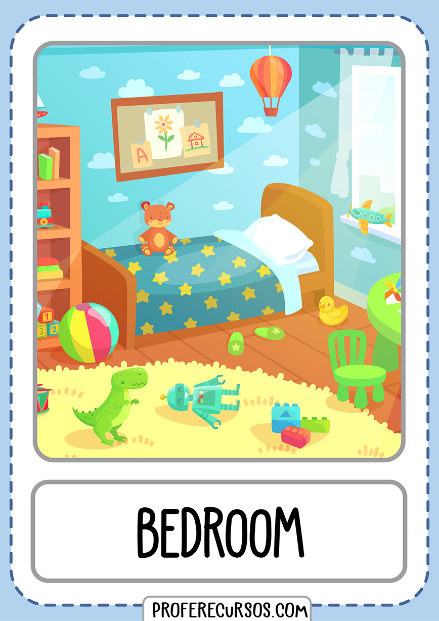 Flashcards House Parts Bedroom