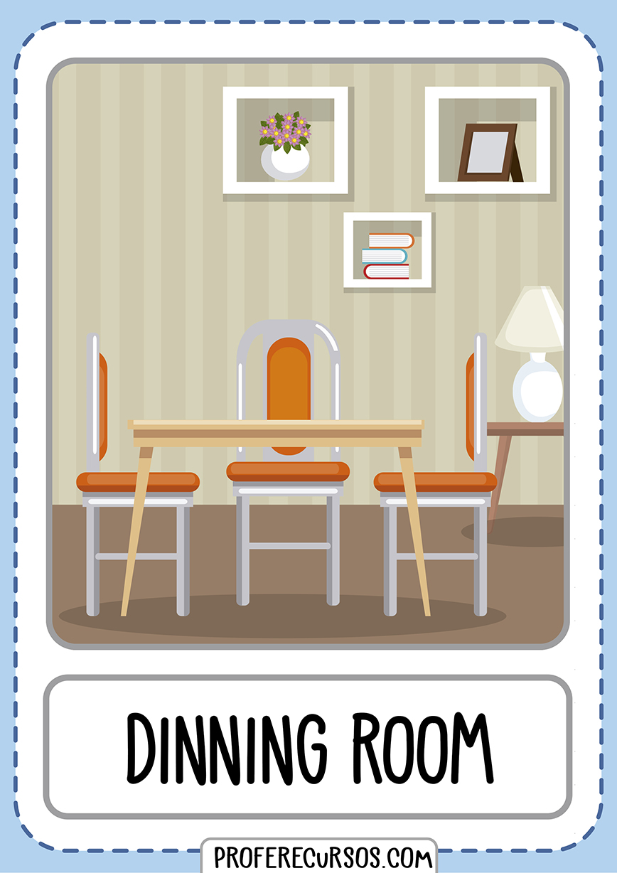 Flashcards House Parts Dinning Room