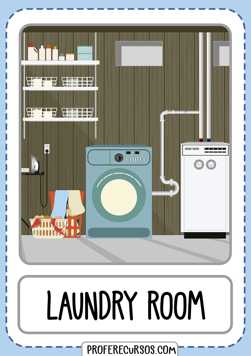 Flashcards House Parts Laundry Room