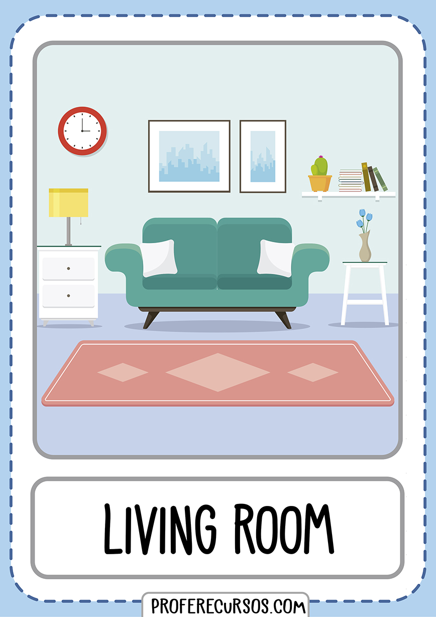 Flashcards House Parts Living Room