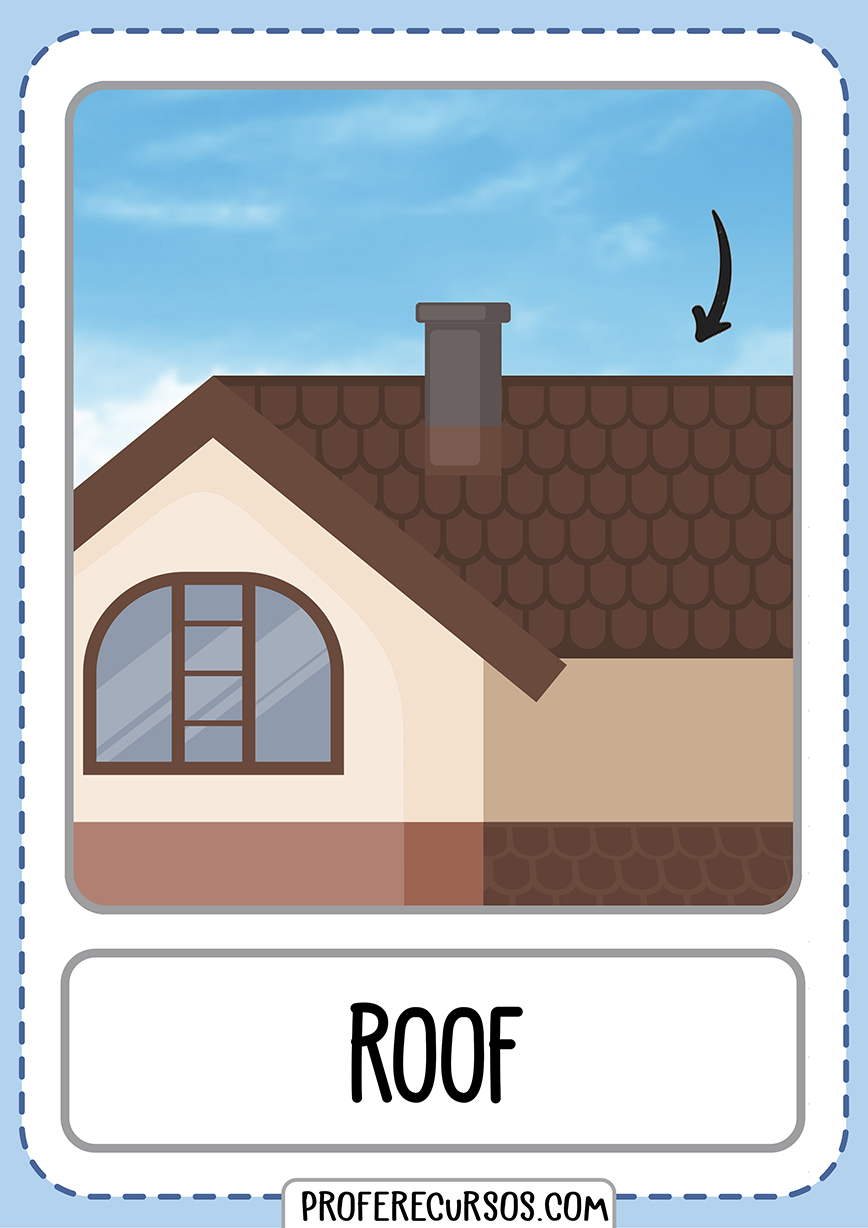Flashcards House Parts Roof