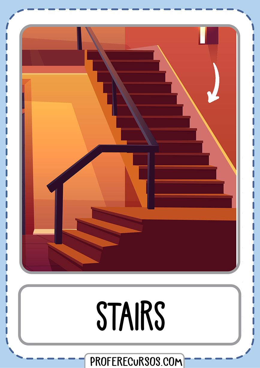 Flashcards House Parts Stairs