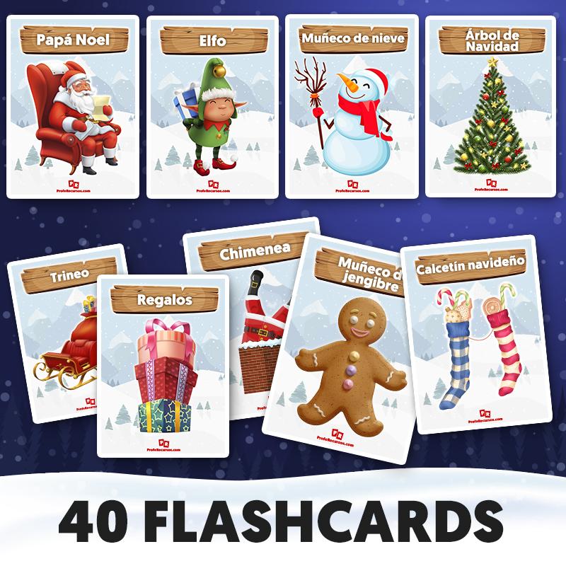 Flashcards de navidad