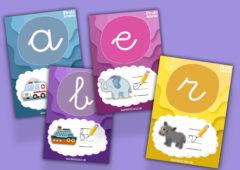 Flashcards de abecedario para niños