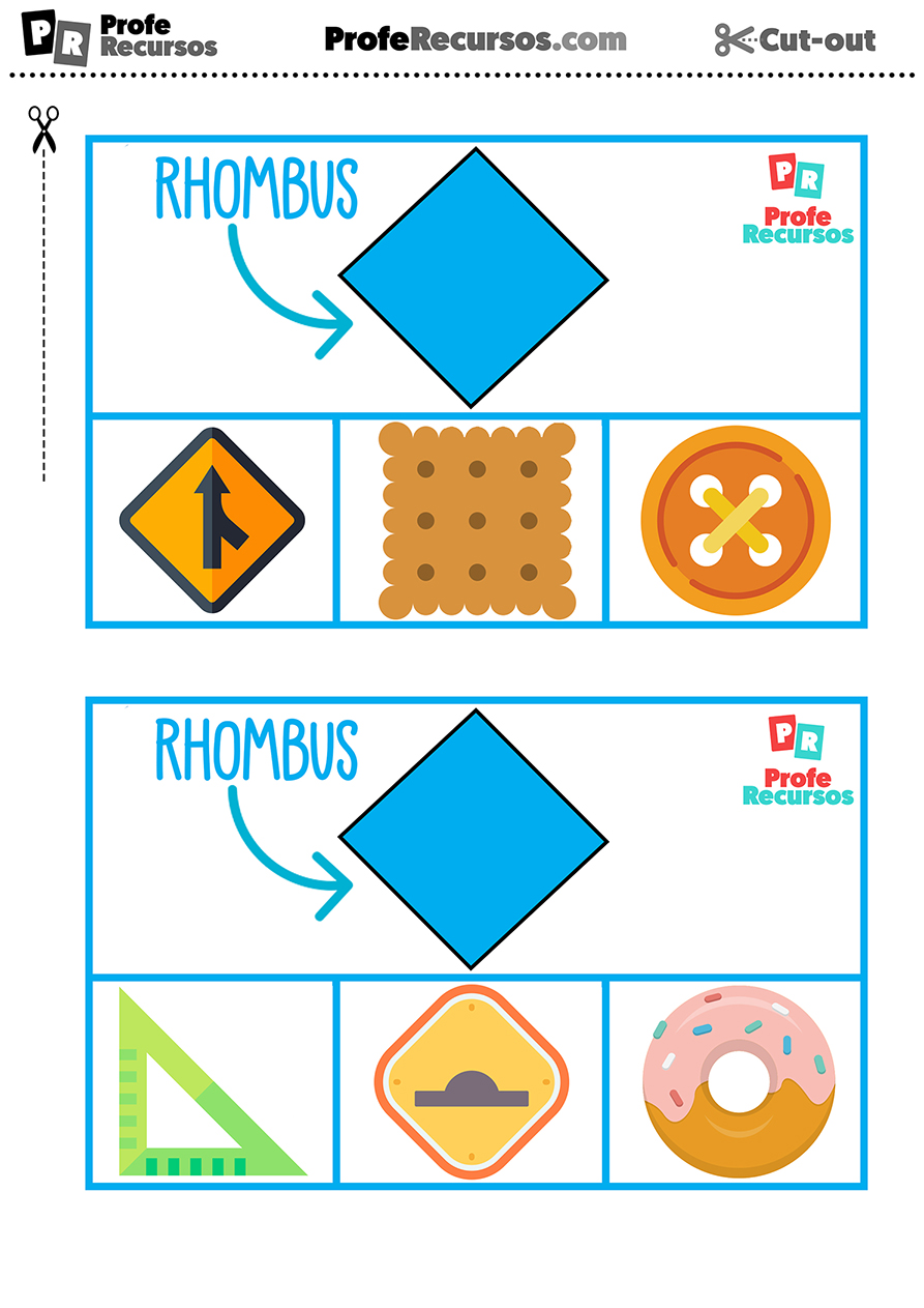 Formas geometricas flashcards ingles