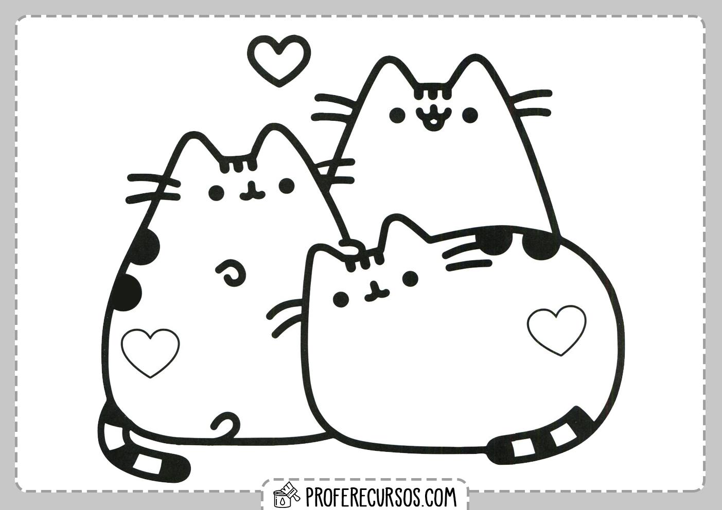Gatitos Dibujos Kawaii