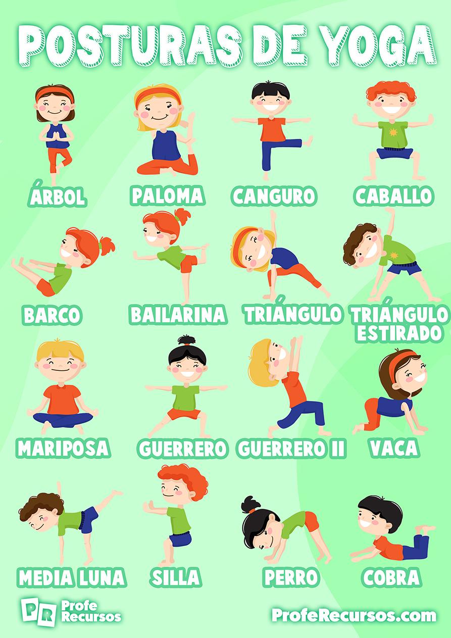 Hacer yoga con niños en clase