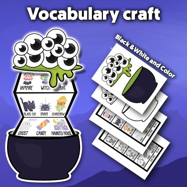 Halloween diy vocabulary