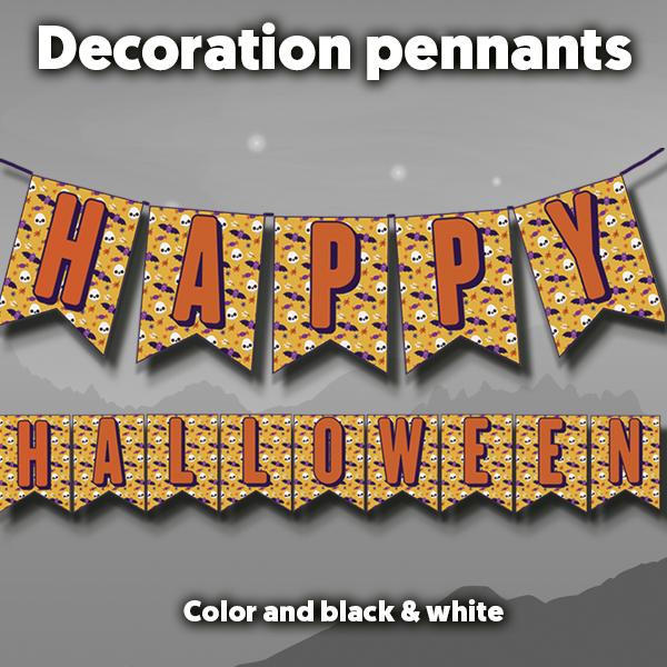 Halloween pennants
