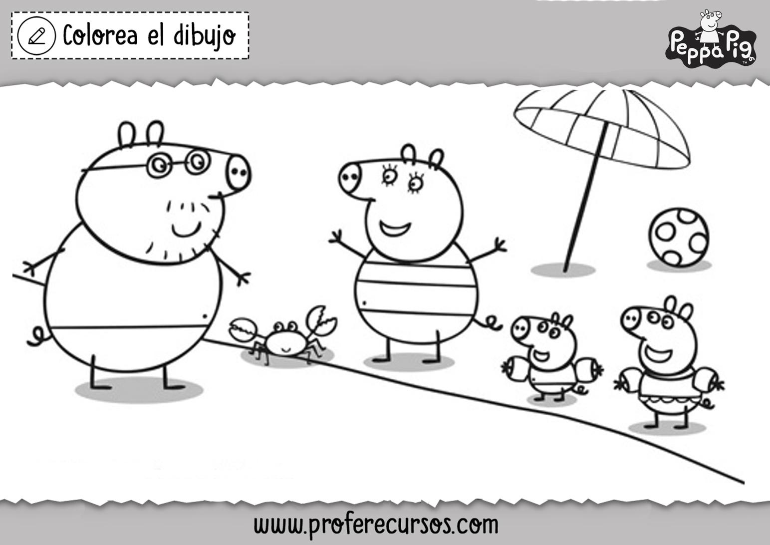 Imprimir Peppa Pig para Colorear