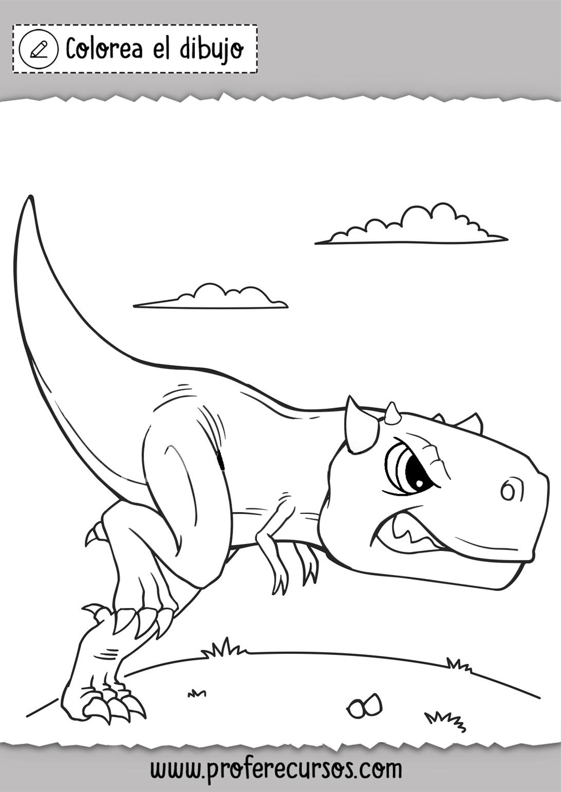 Imprimir dibujos Dinosaurios Colorear