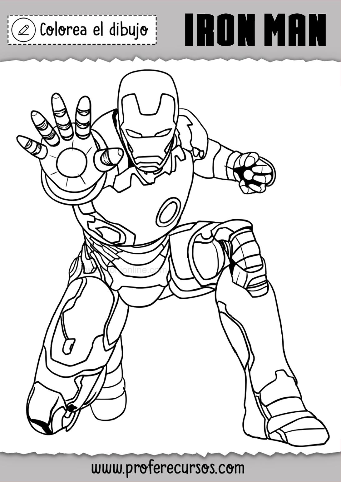 Iron Man Para Colorear