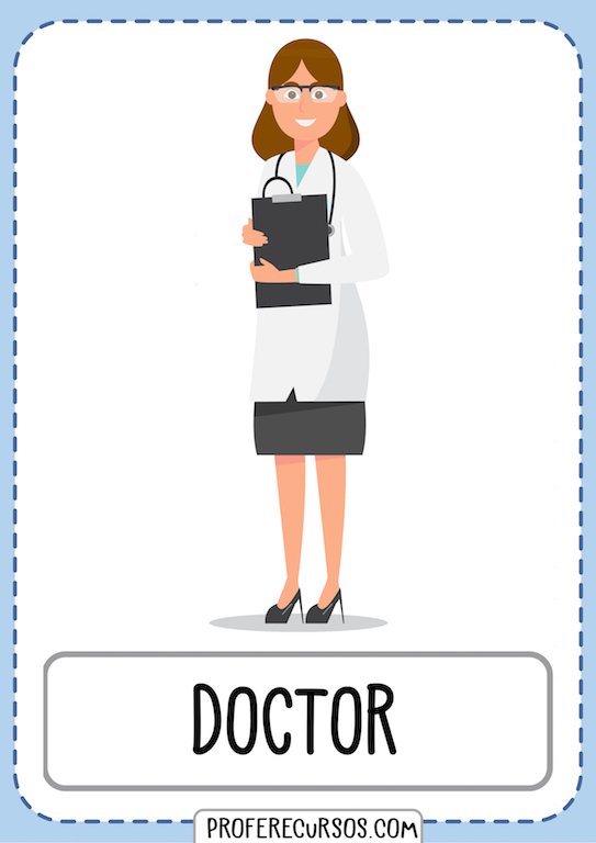 Jobs Professions Vocabulary Doctor