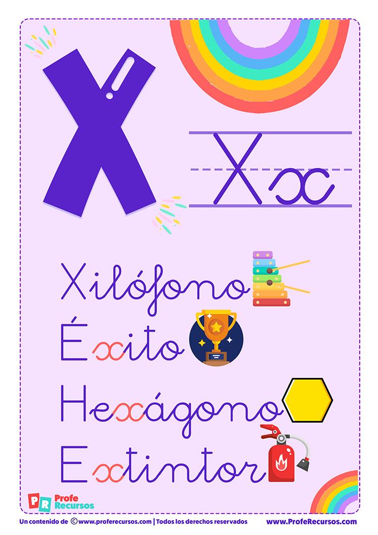 La letra x para imprimir