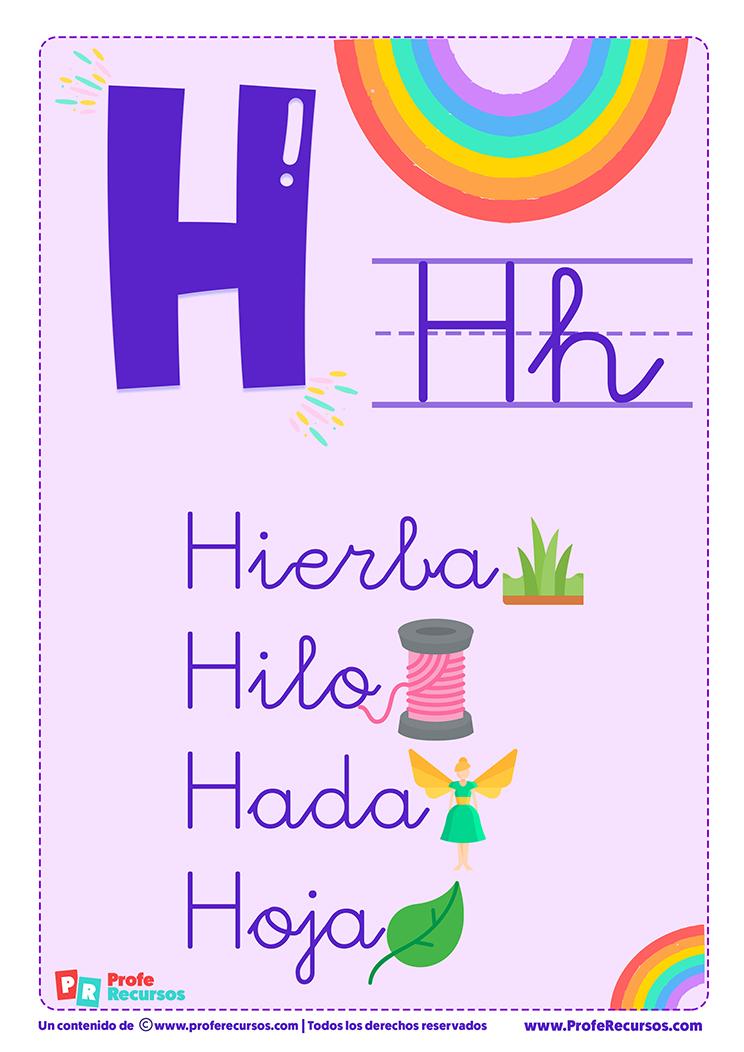 La letra h para imprimir