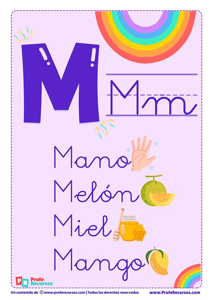 La letra m para imprimir