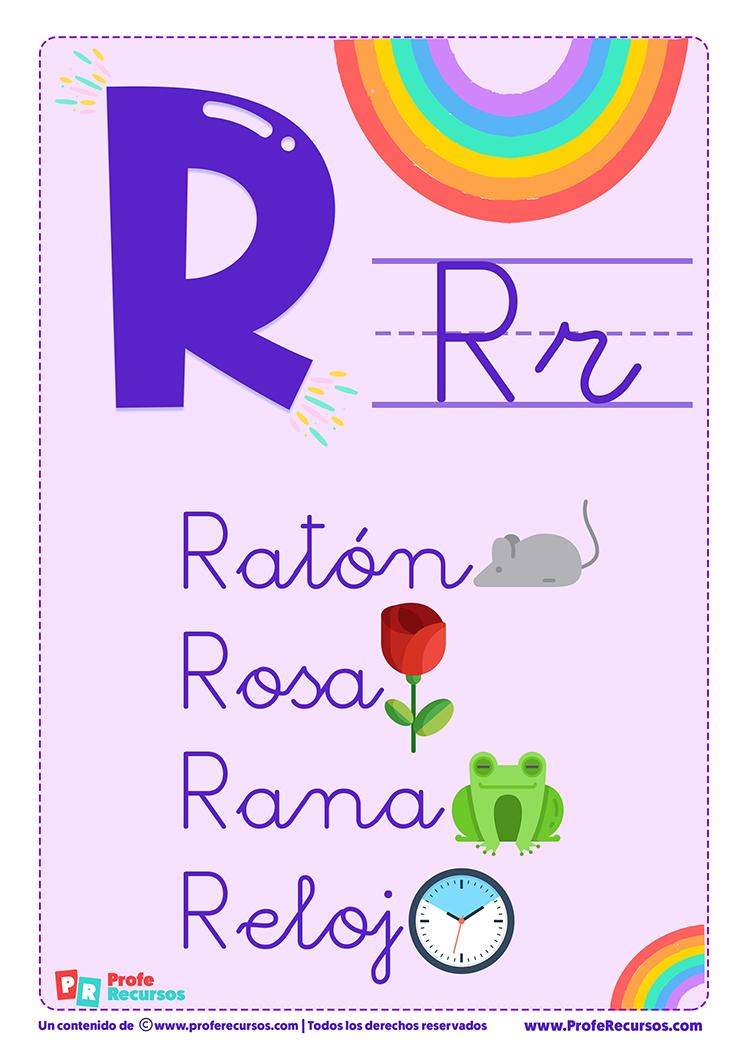 La letra r para imprimir