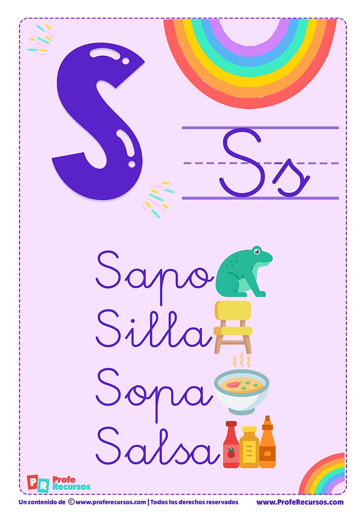 La letra s para imprimir