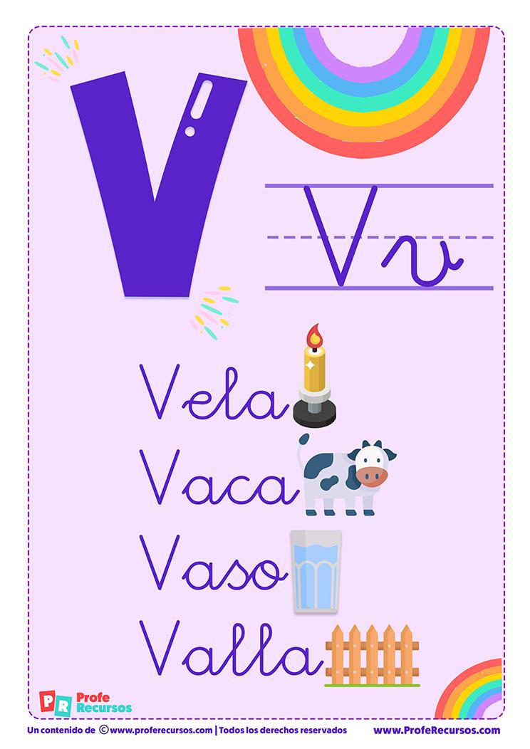 La letra v para imprimir