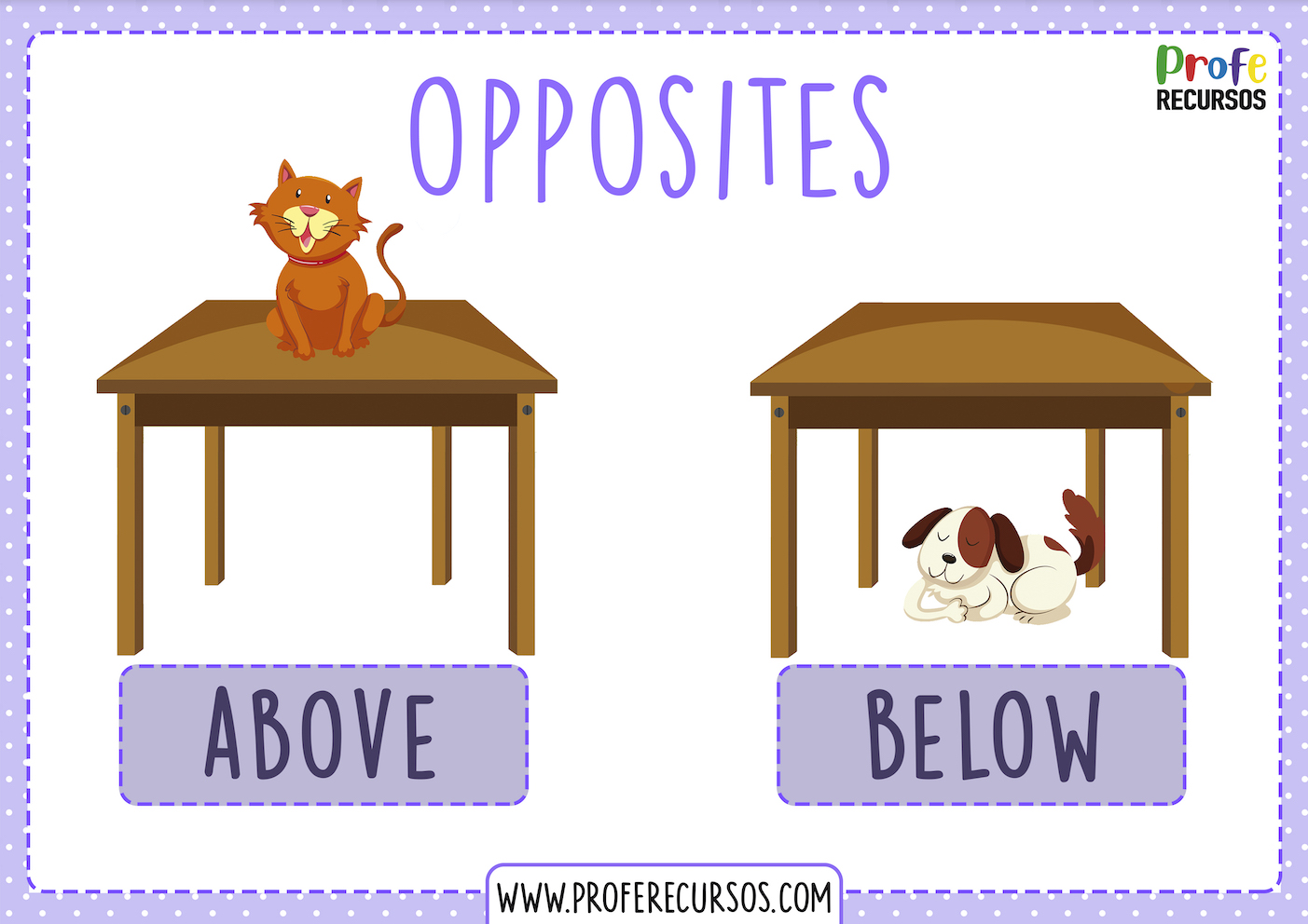 Learning english games opposites