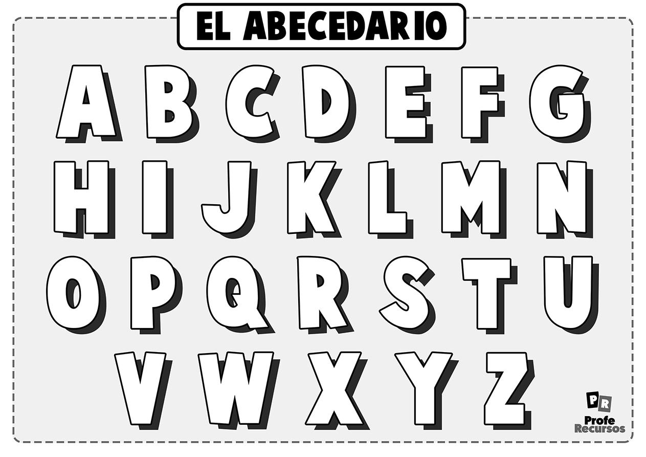 Letras del abecedario para colorear para niños