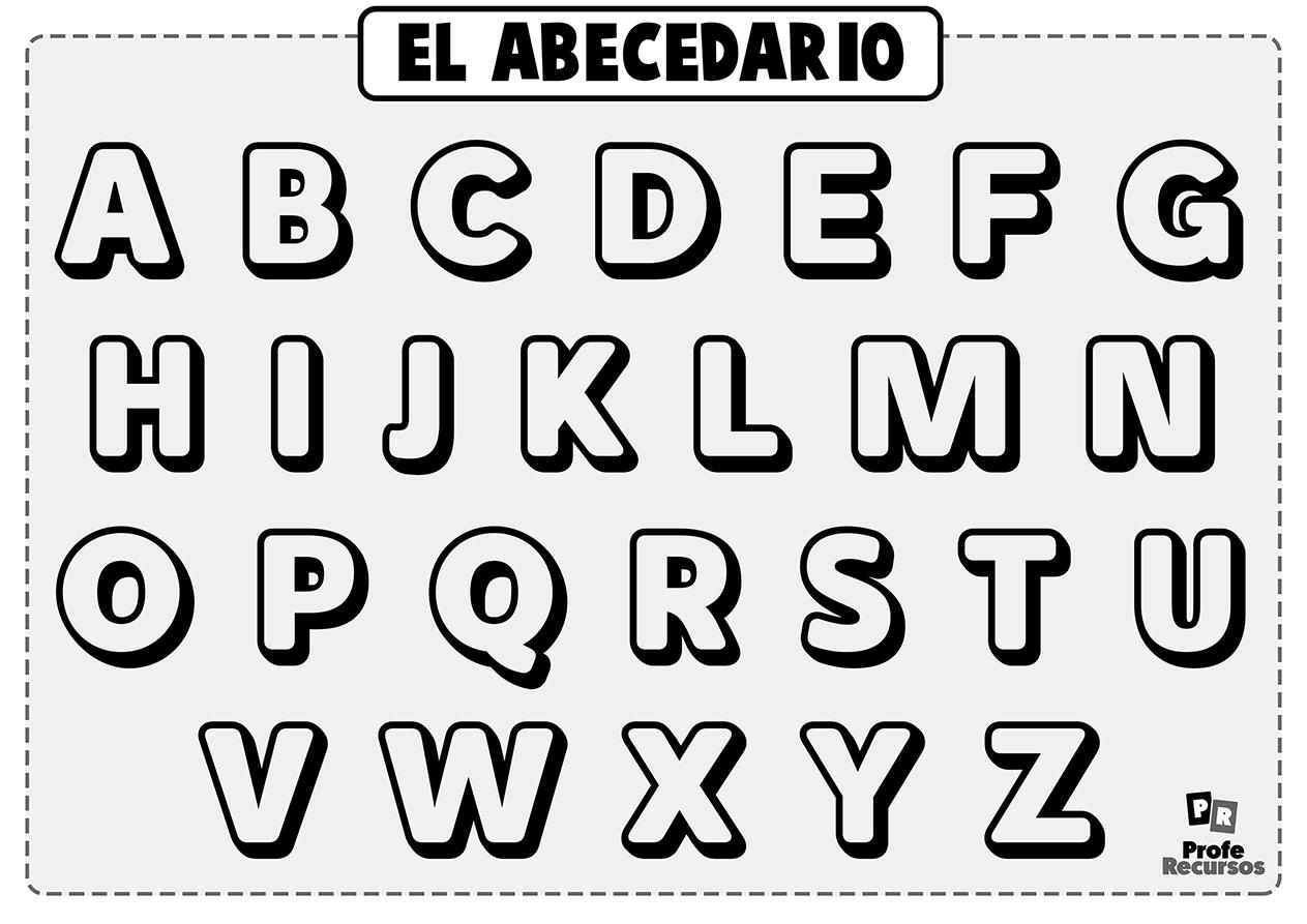 Letras del abecedario para colorear