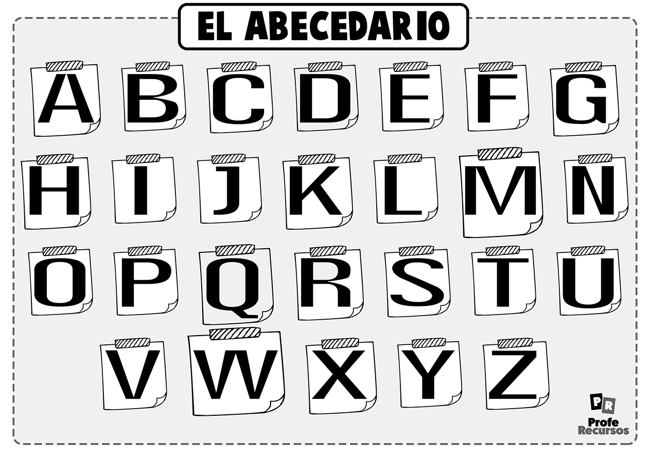 Letras del alfabeto para colorear