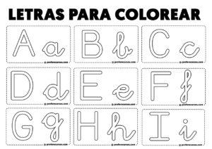 Letras para colorear