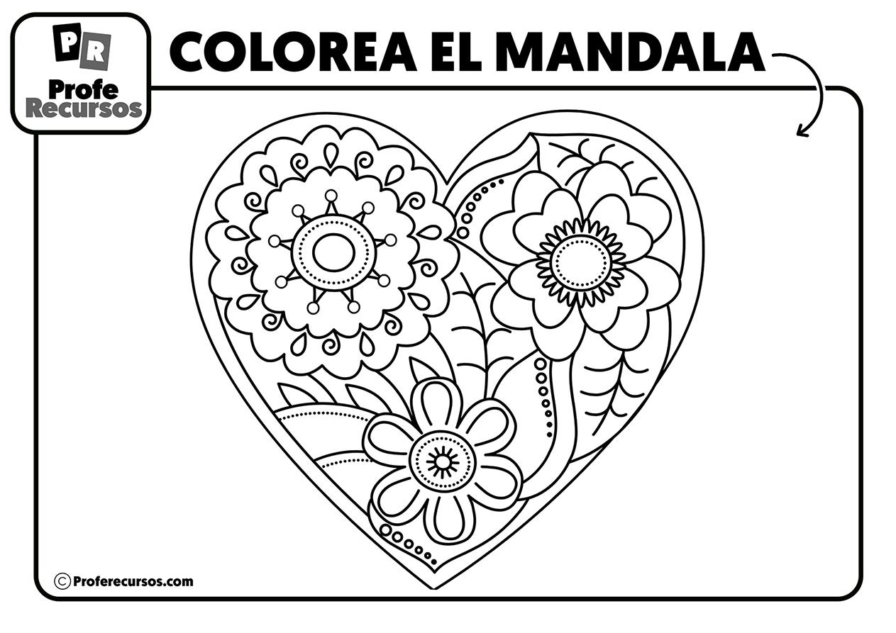 Mandalas de corazones para niños