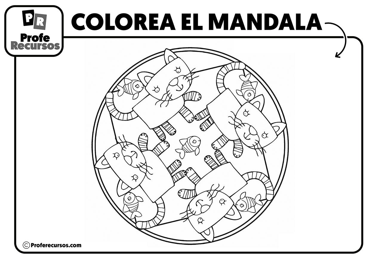 Mandalas para colorear infantiles