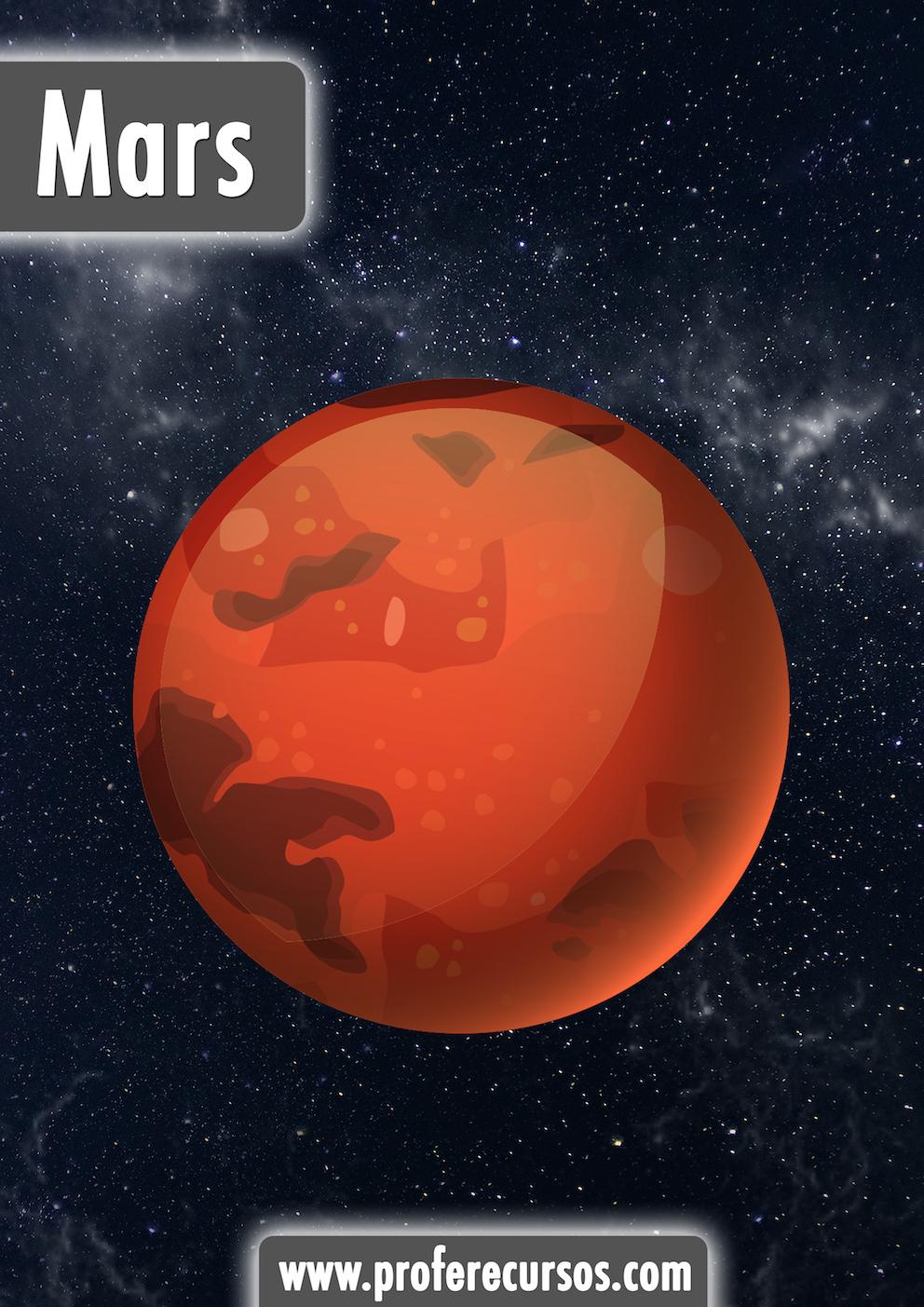 Mars Planets Vocabulary