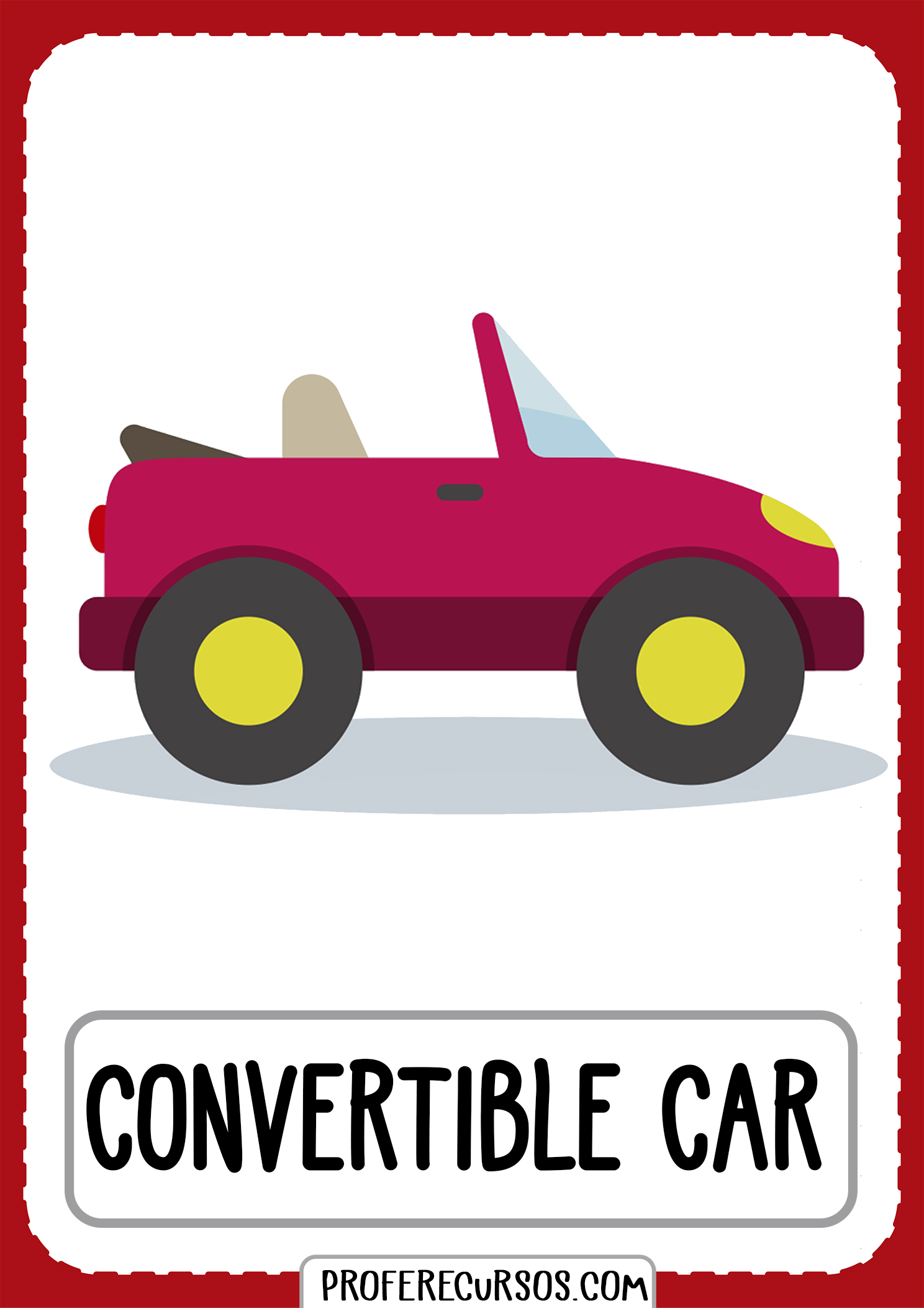 Means-of-transport-vocabulary-convertible-car