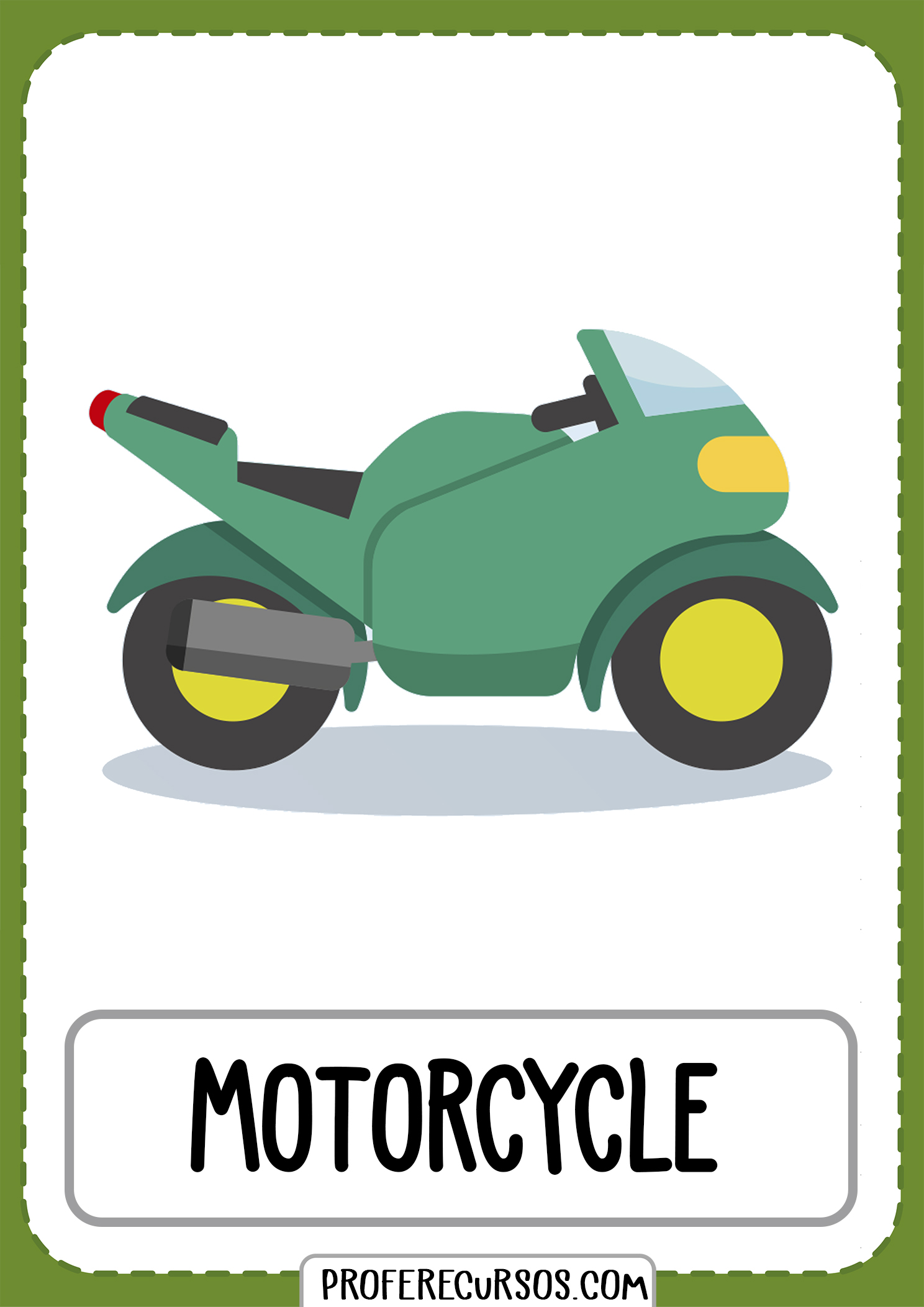 Means-of-transport-vocabulary-motorcycle