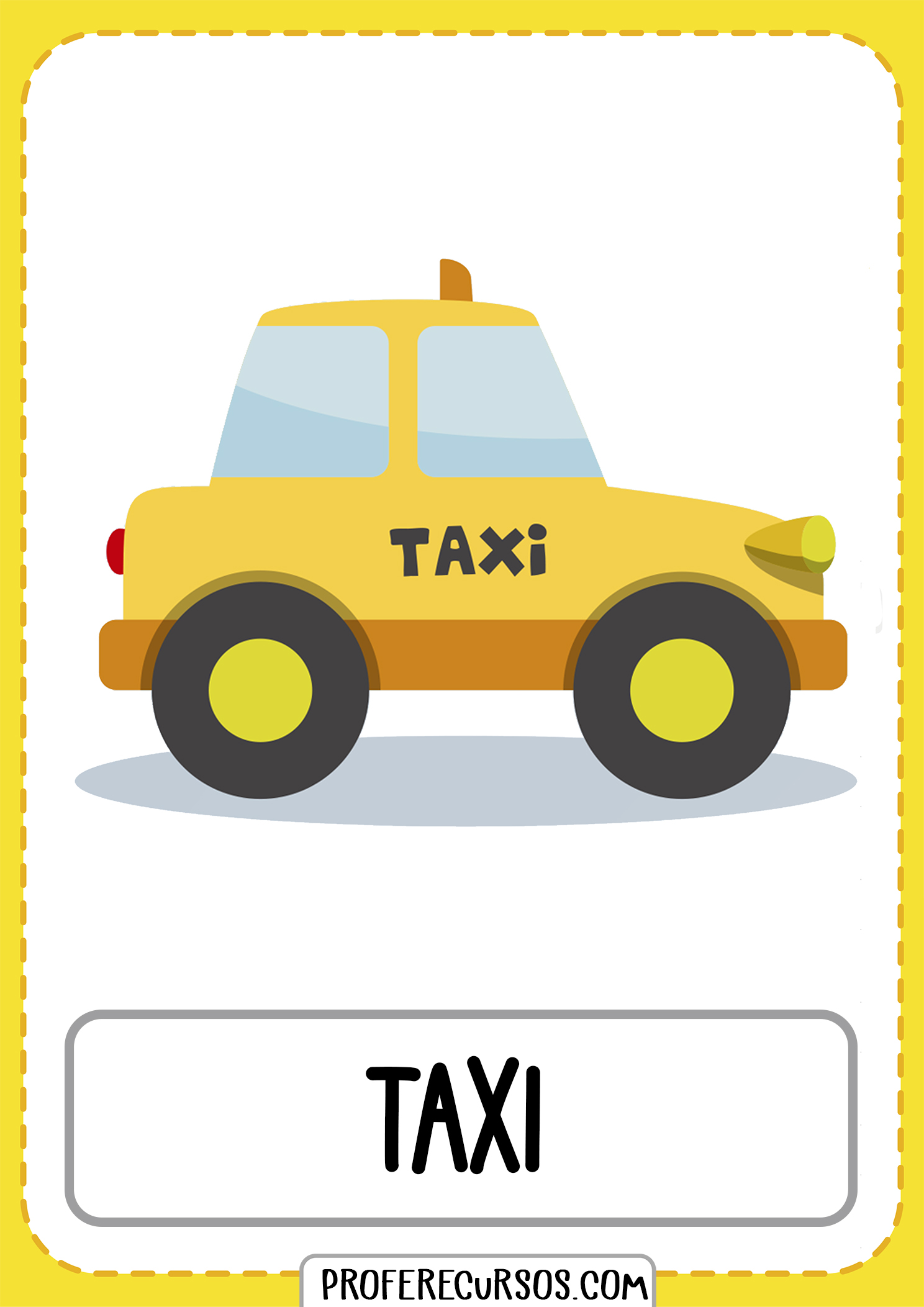 Means-of-transport-vocabulary-taxi