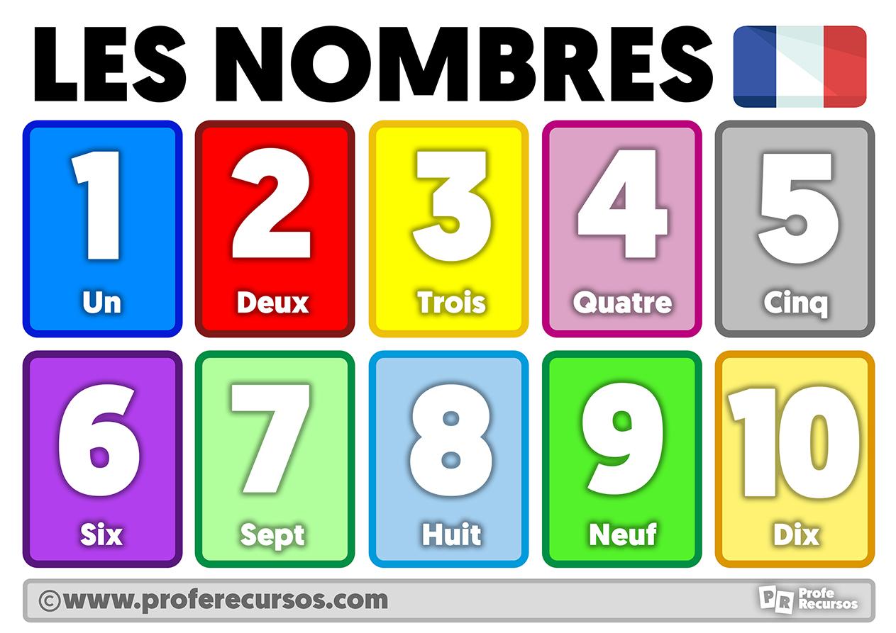 Numeros en frances 1 al 10