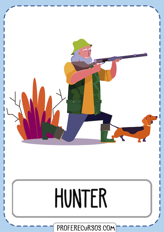 Occupations Vocabulary Flashcards Hunter