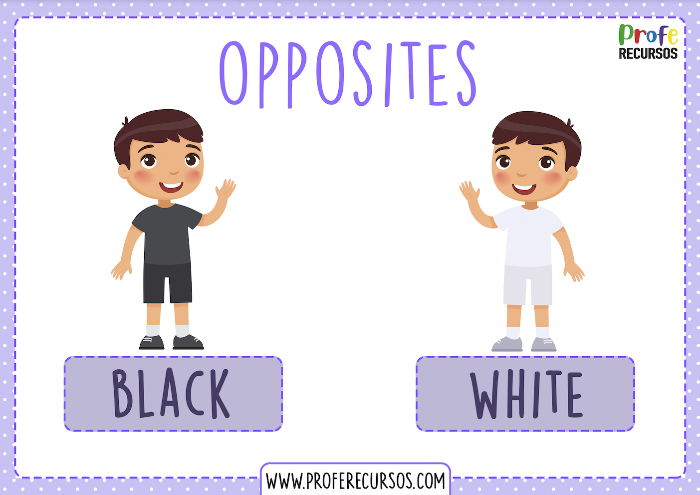 Opposites adjectives