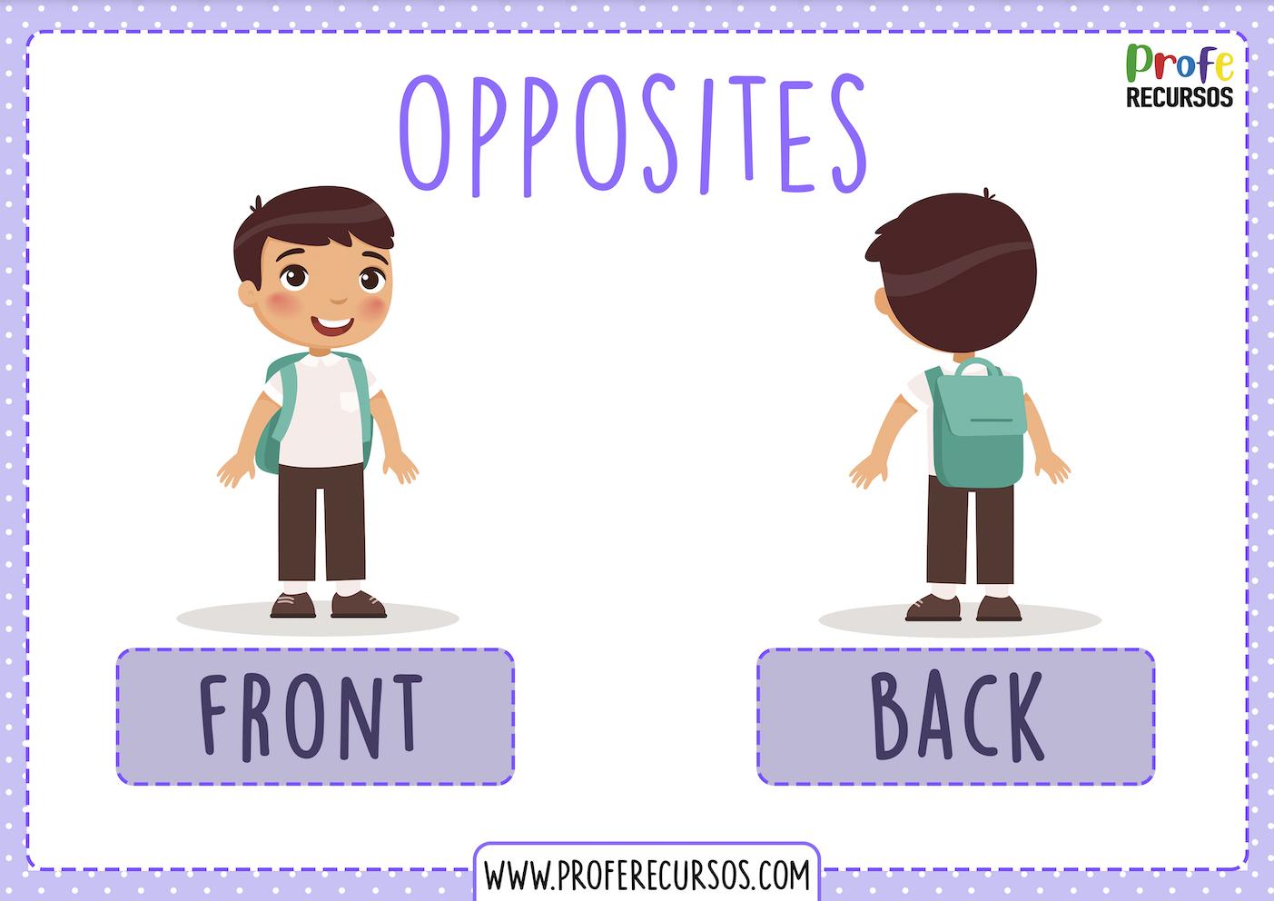 Opposites flashcards english