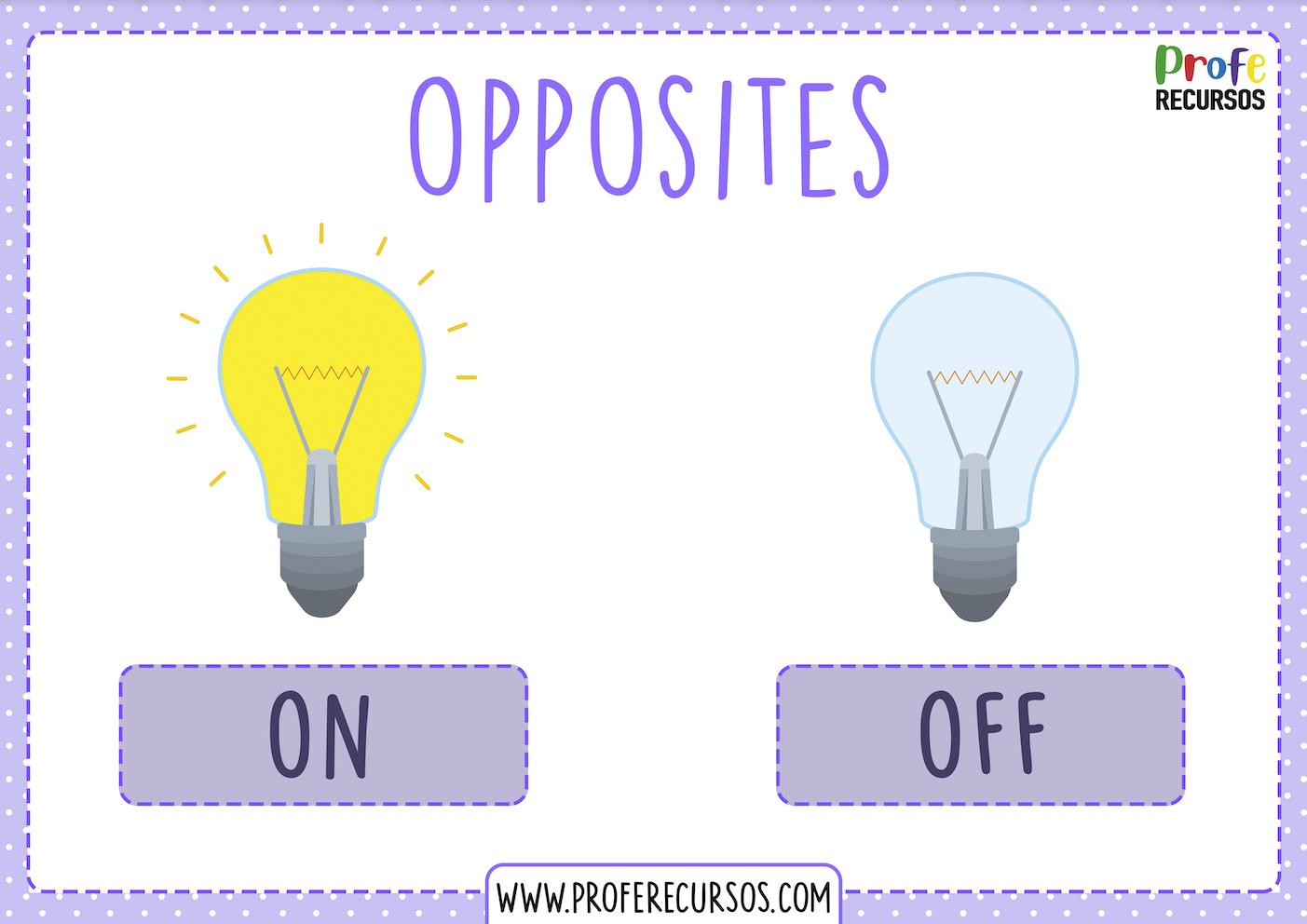 Opposites flashcards esl