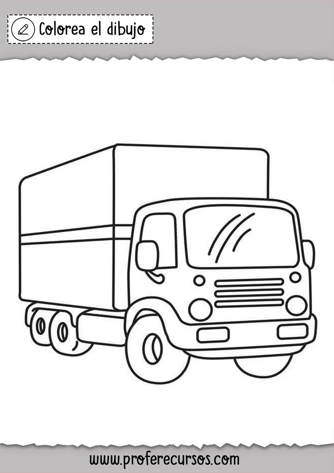 Pintar y Colorear Camiones