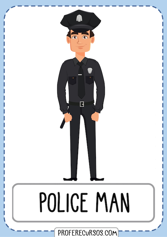 Policeman Jobs Professions Vocabulary