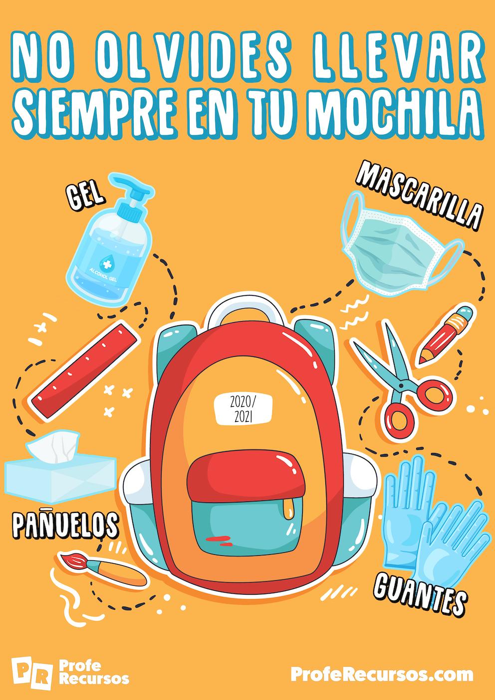 Poster para decorar tu aula covid