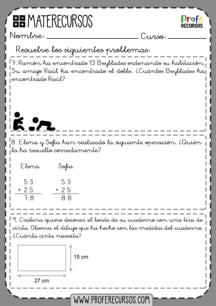 Problemas De Matemáticas Para 2º De Primaria