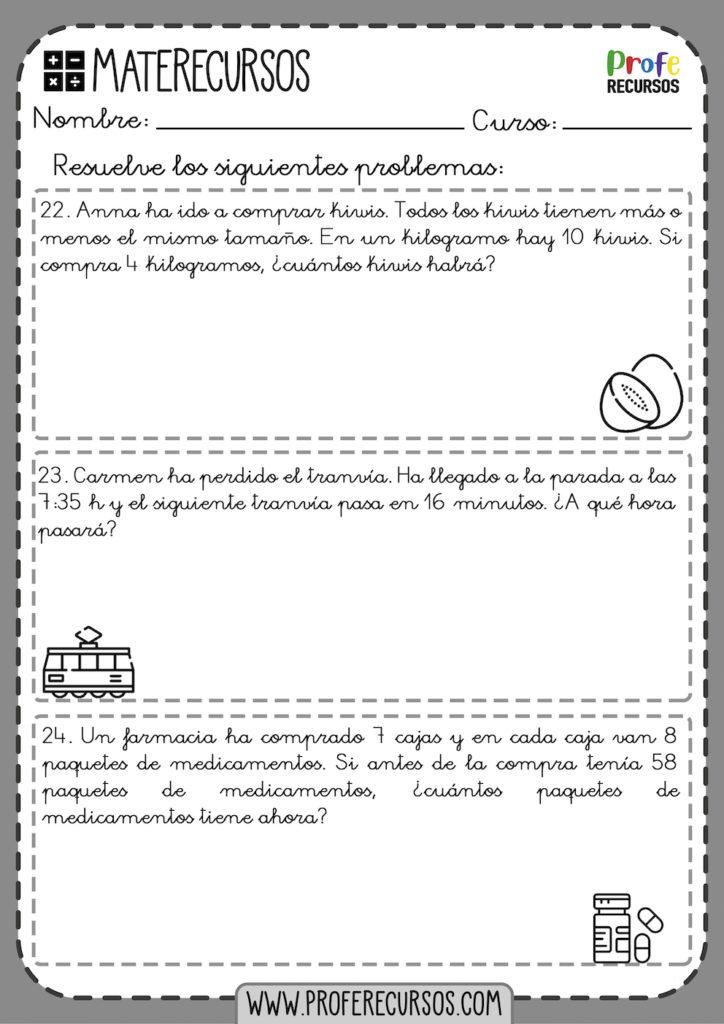 Problemas mates 3 primaria pdf