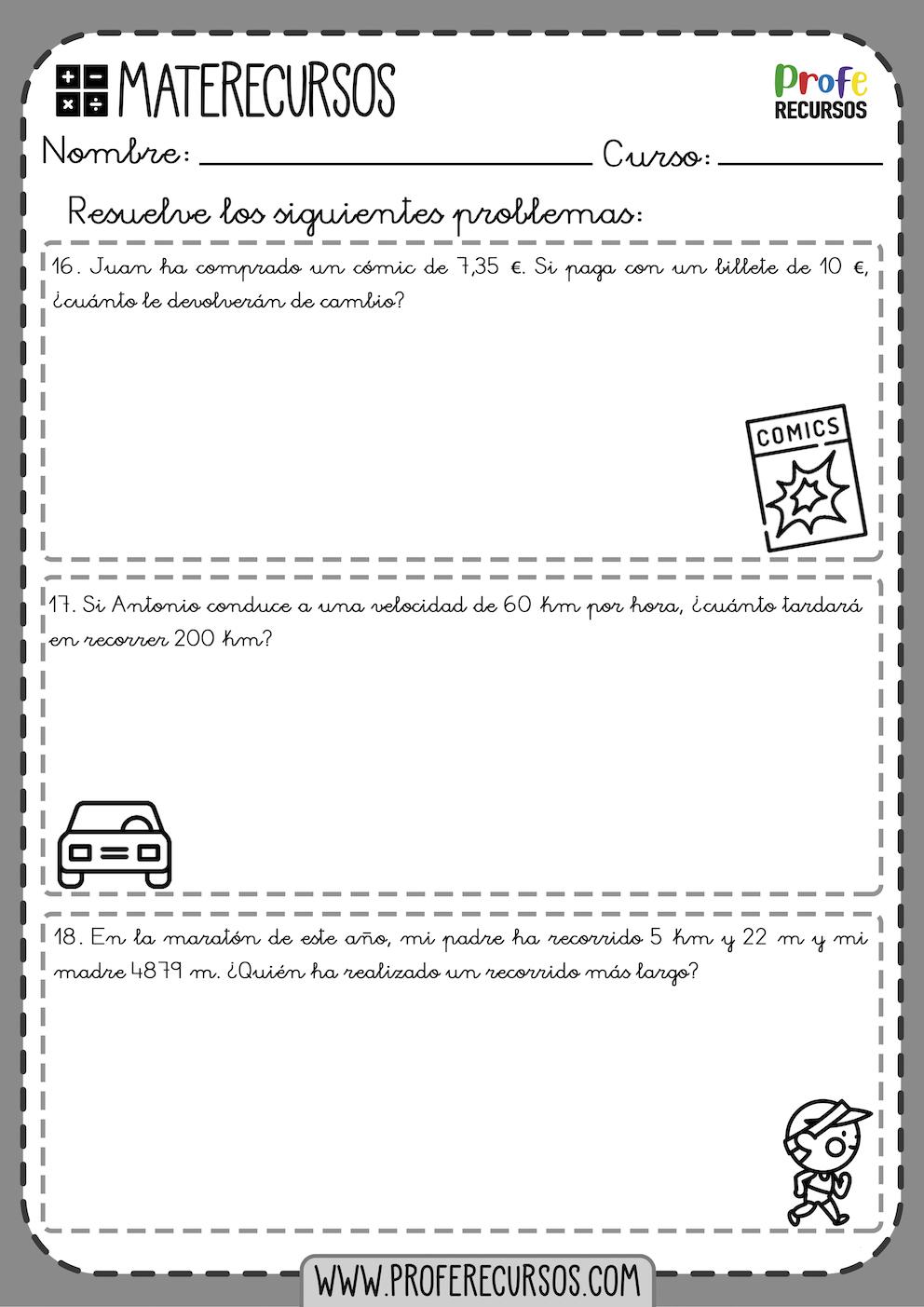 Problemas quinto de primaria pdf
