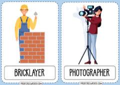 Vocabulario PROFESIONES en Inglés (Flashcards)