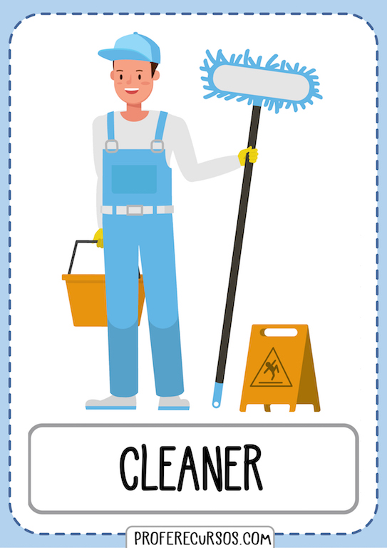 Professions Jobs Vocabulary Cleaner
